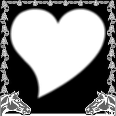 Montage photo coeur avec des chevaux pixiz - Coeur avec des photos ...