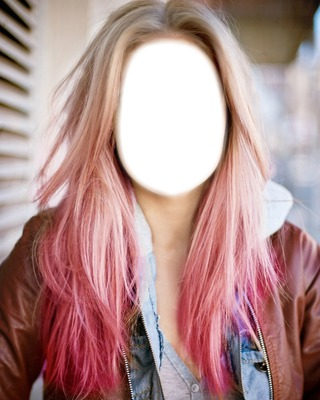 blonde pink hair
