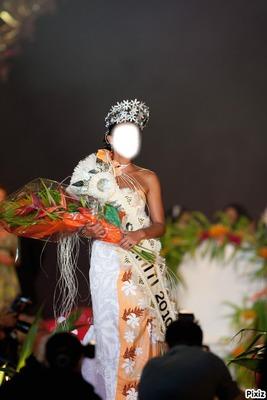 Avoir le visage de la Miss Tahiti 2010