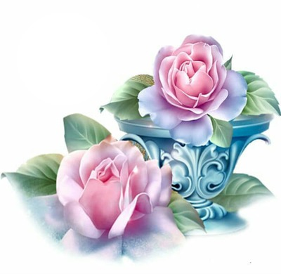 2 PINK ROSES