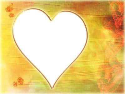 Coeur-fond de bois jaune