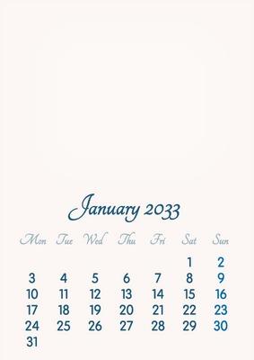 January 2033 // 2019 to 2046 // VIP Calendar // Basic Color // English