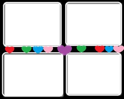Coeur et 4 carré