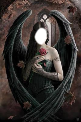 Ange Femme photo montage femme ange noir - pixiz