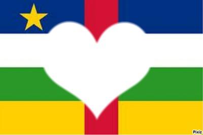 Coeur, drapeau Centrafricain