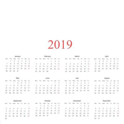 Calendario 2019 Rosa Portugues.Montaje Fotografico 2019 Calendar Pixiz
