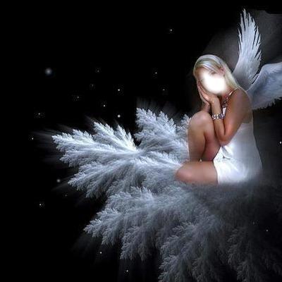 Ange Femme photo montage ange femme blonde - pixiz