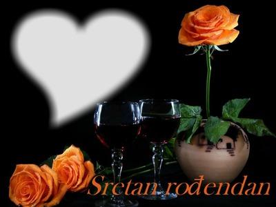 Photo montage Rođendan žute ruže   Pixiz