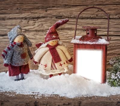 Rp Laterne im Schnee