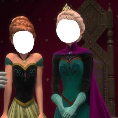 Elsa e Anna Na Coroação