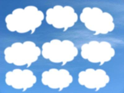 Fond bleu nuage pensée