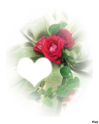 Coeur avec fleurs