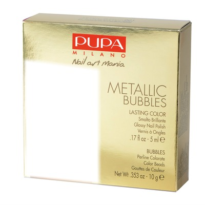 Pupa Metallic Bubbles Nail Art Kit Gold
