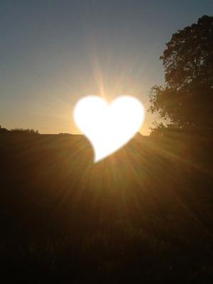 Coché de soleil en coeur