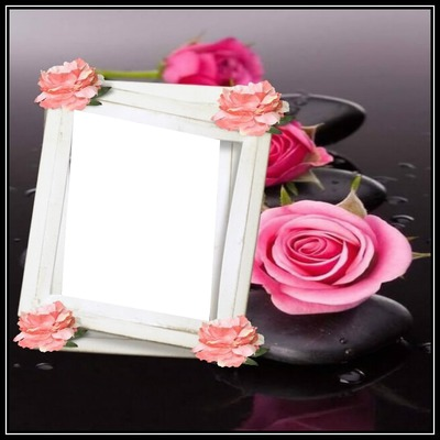 cadre fleur 1 photo