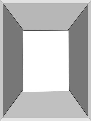 Perspective-une photo cadre gris métal