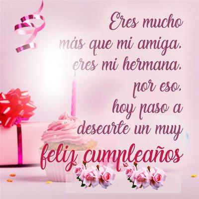 Cc Feliz cumpleaños amiga mia