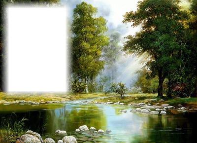 Paysage-rivière-forêt