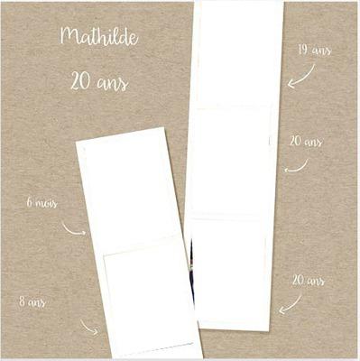 Carte anniversaire polaroid 20 ans