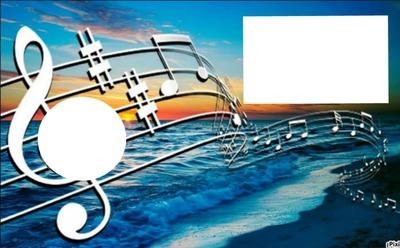 Musica notes Ocean