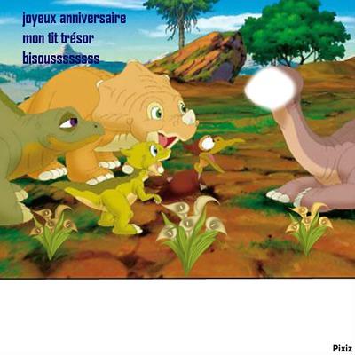 Montage Photo Dinosaure Joyeux Anniversaire Pixiz