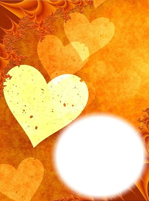 Coeurs-fond orange