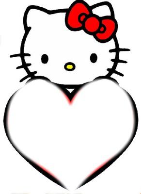 Coeur Hello Kitty