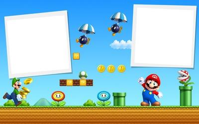Moldura Super Mario 1