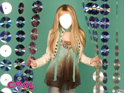 cadre Hannah Montana visage