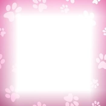 cadre chien rose