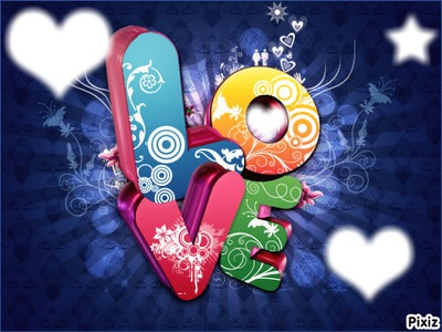 Photo montage love 3d - Pixiz