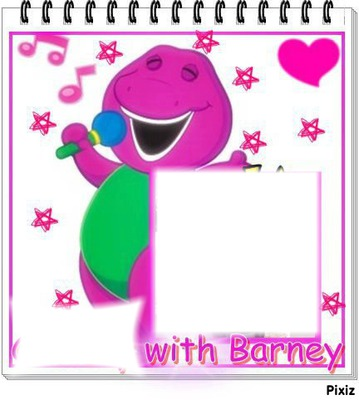 Photo montage ??? with Barney - Pixiz