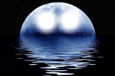 Fotomontage Luna Piena Mare 2 Pixiz