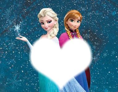 Montagem Anna e Elsa Frozen