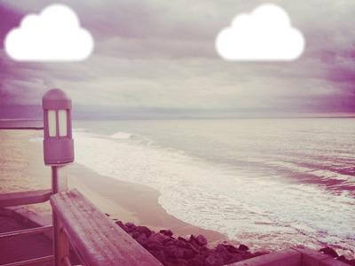 Nuage à l'horizon