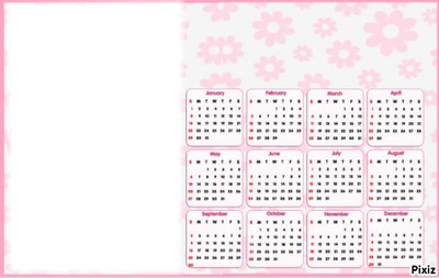 calendrier 2012 avec ta photo