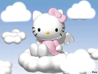 hello kitty dans les nuages