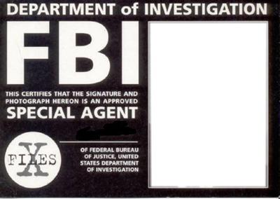 carte FBI..Xfiles