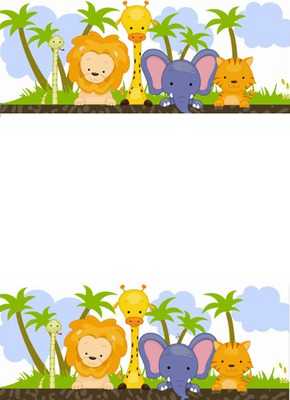Fotomontagem Safari Baby Pixiz