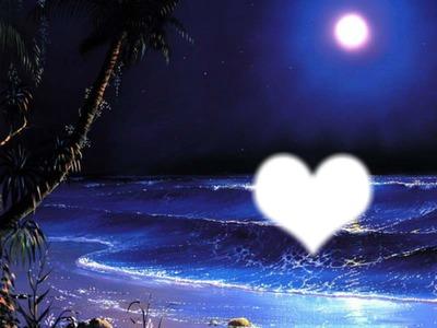 nuit plage amour
