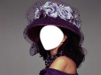 chapeau violet