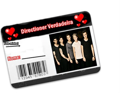Carteirinha de fã do one direction