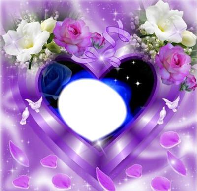 "Coeur fleurs""Jess"""