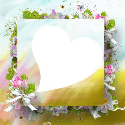 cadre coeur fleurie