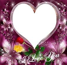 I Love You avec un coeur 1 photo