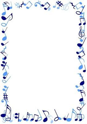 1 cadre avec notes de musique bleu 1 photo