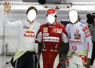 Vettel Alonso et Hamilton