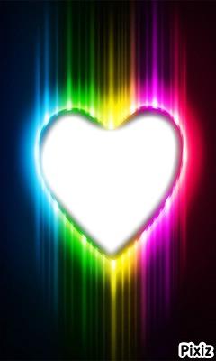 coeur néon