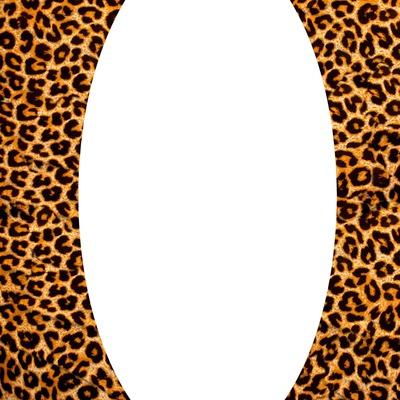 Léopard orange ovale