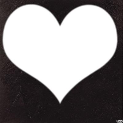 coeur sur fond noir